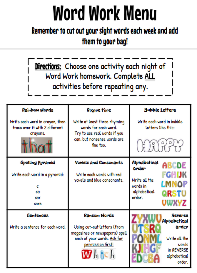and Search Sight Words - Dolch First Grade Words - Word Work, RTI ...
